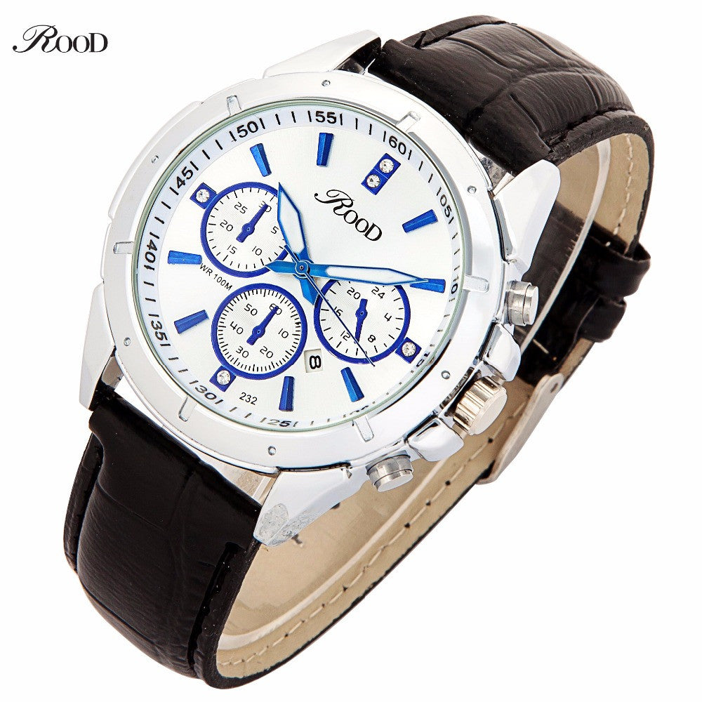 Luxury CARFUER Brand Genuine Leather Analog Display Date Men's Quartz Watch Sports Watches Men Wristwatch