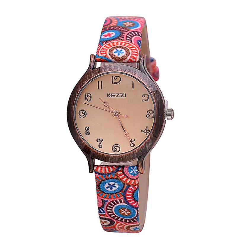 Fashion Women Wristwatch Genuine Leather strap Analog Display Quartz Casual Watch