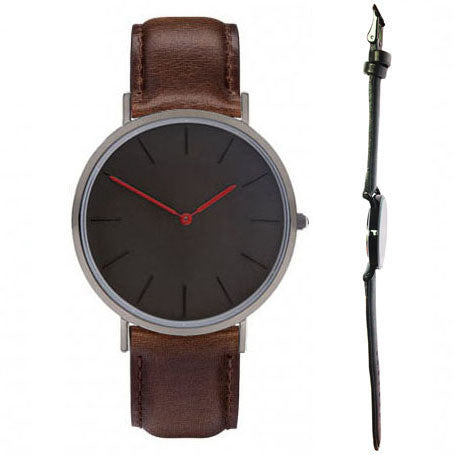 Relojes classic hours two hands black dial face black color case watch