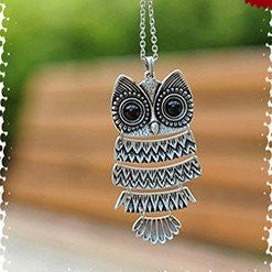 Restore ancient ways owl pendant necklace