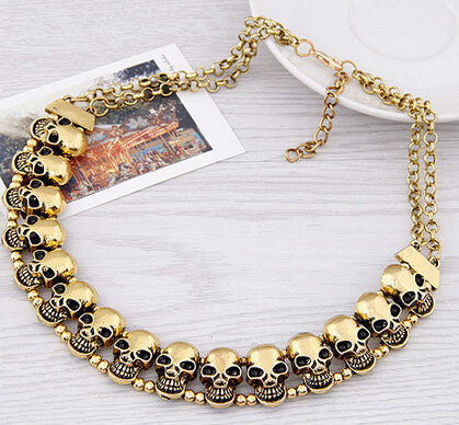 Valentine's gift Korean Fashion wholesale cheap vintage skull quality choker necklace