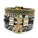 winter Leather bracelet 5 color 3 size snakeskin shape charm bracelets for women Christmas gift wrap bangles