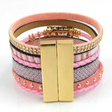 winter leather bracelet have 4 color charm bracelets Bohemian bracelets & bangles Christmas gift for women jewelry