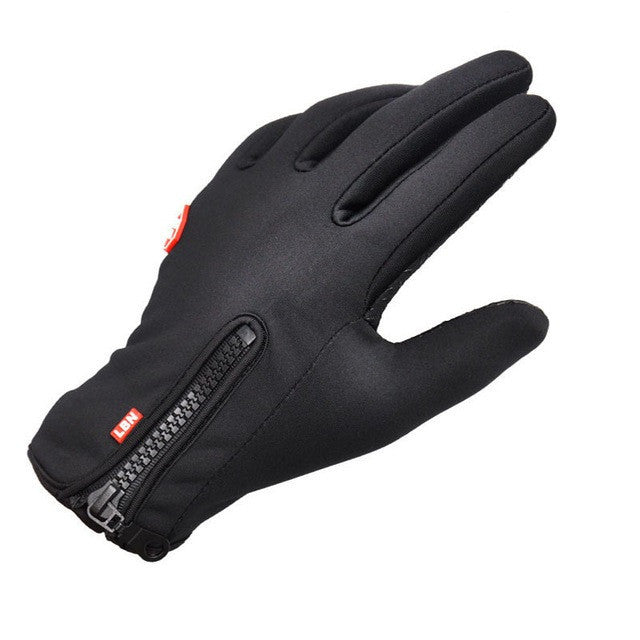 Winter sport windstopper waterproof ski gloves black -30 warm riding glove Motorcycle gloves