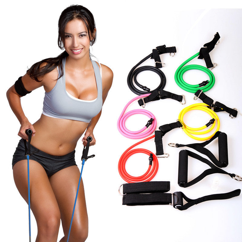 Fitness Resistance Bands Resistance Rope Exerciese Tubes Elastic Exercise Bands for Yoga Pilates Workout