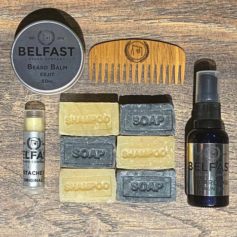 Beard Care Gift Set with Shampoo & Soap