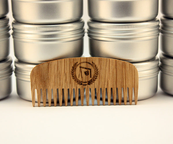 Fine Tooth Beard Comb with Leather Case