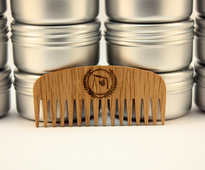 Wide Tooth Beard Comb with Leather Case