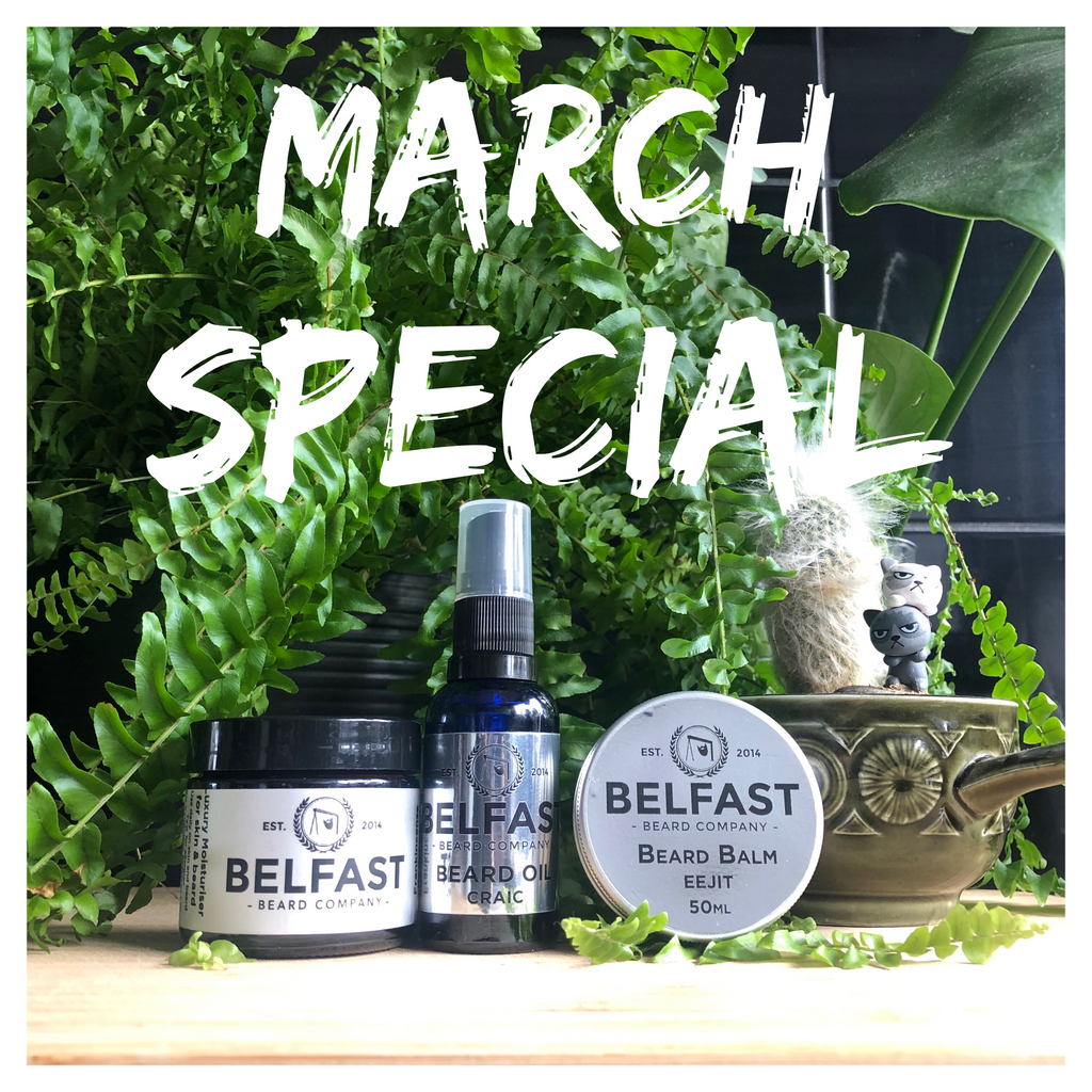 August Special! Beard Balm, Oil & Comb £20