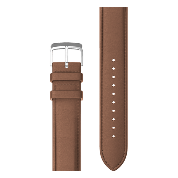 Brown genuine leather strap