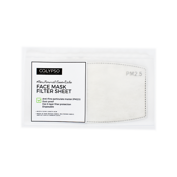 #NewNormal Essential - Face Mask Filter Sheet - Calypso PH - Modern Accessories and Apparel - Bracelets and Shirts made from Manila, Philippines