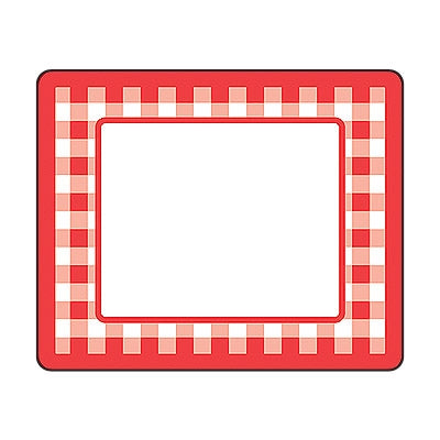 Red Gingham Name Tags - Name Labels