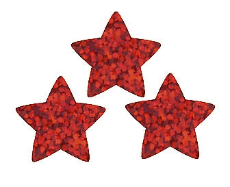 Red Sparkle Stars Stickers - 400 Stickers per pack