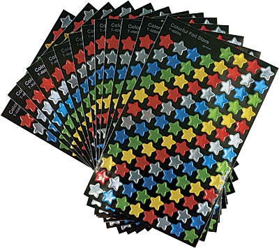 Colourful Foil Stars Super Shapes Value Pack - 1300 stickers