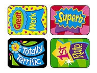 Reward Ribbons Applause Stickers - 100 Stickers per pack