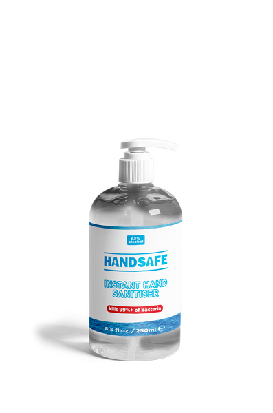 Hand gel sanitiser - 62% alcohol - 250ml