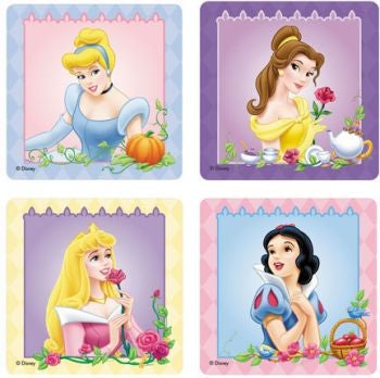 Disney Princess stickers - 25 large stickers per pack