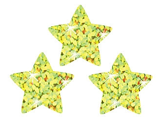 Gold Sparkle Stars Stickers - 400 Stickers