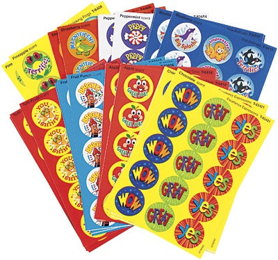 Praise Words Scratch'n'sniff Smelly Stickers - 435 sticker per pack