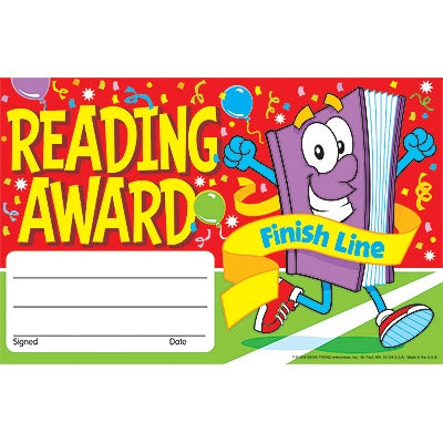 Reading Recognition Certificate - pack of 30 certificates for children