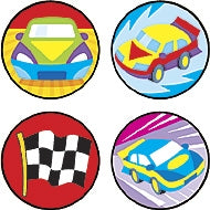Fast Cars stickers - 800 stickers per pack