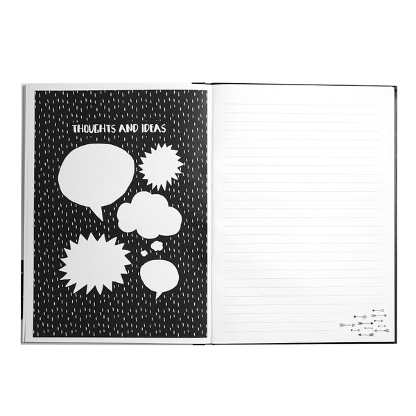 Scandi Panda Notebook A4 - hardback
