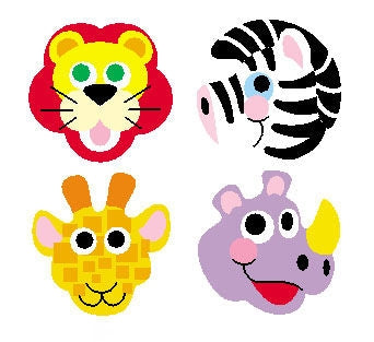 Zoo Animals stickers - 800 per pack