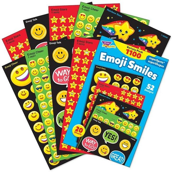 Emoji Smiles stickers - 1,100 reward stickers
