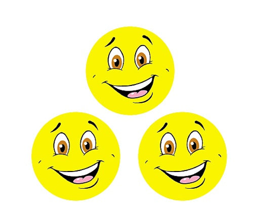 Yellow Smiles (Lemon Meringue) Small Round Smelly Stickers - 96 per pack