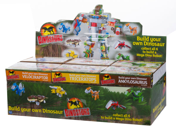 pocket money priced dinosaur brick construction pack