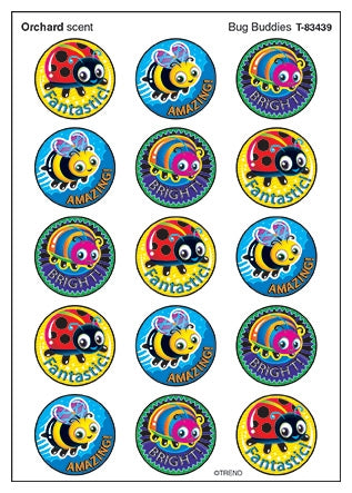 Bug Buddies Orchard Scented stickers