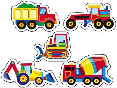 Construction Vehicles stickers - c. 200 stickers per pack