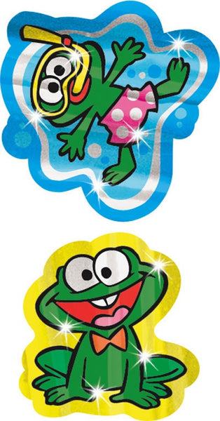 Funny Frogs Animal Foil Bright Stickers