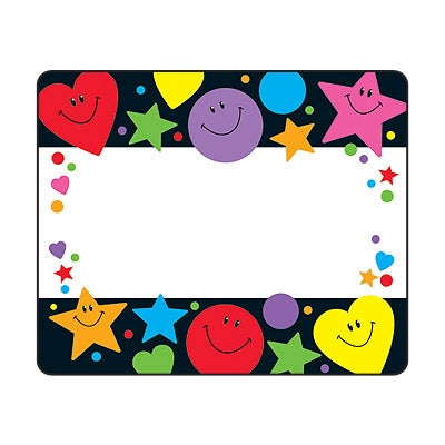 Stars, Hearts and Smiles Name Tags - Name Labels