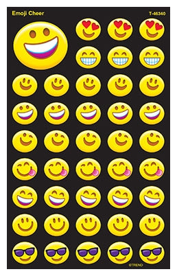 Emoji Cheer super shapes stickers