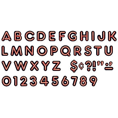 Bright Red Neon Venture Ready letters - Display letters