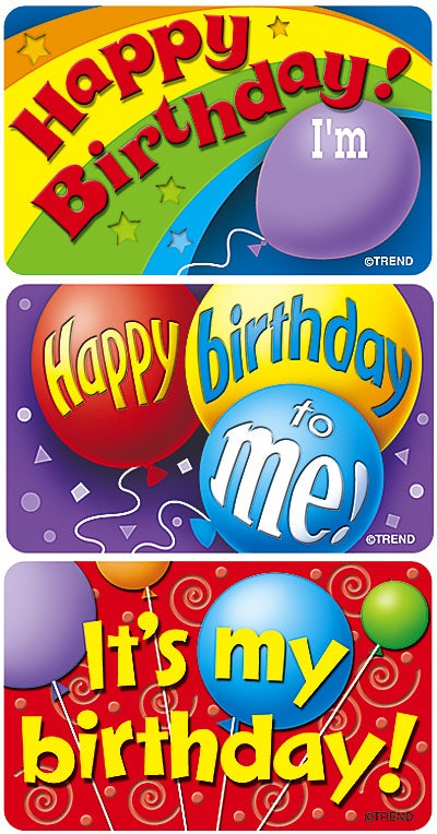 Birthday Kids - 30 large Stickers