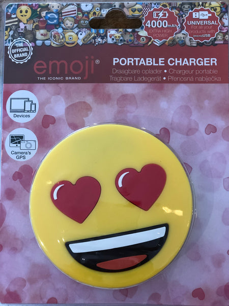emoji love portable charger