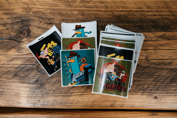 Phineas and Ferb Reward stickers - 25 large stickers per pack