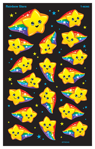 Rainbow Stars Stickers - 144 Stickers per pack