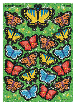 Butterfly brights stickers - minibeasts