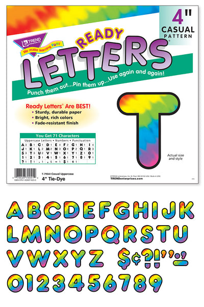 Tie-Dye Ready letters - Display letters