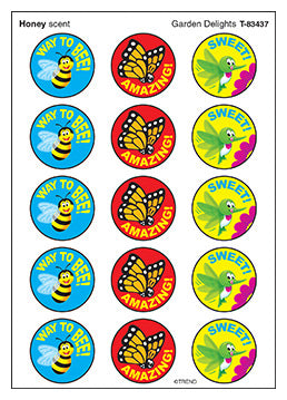 Garden Delights - scratch'n'sniff - honey scented stickers