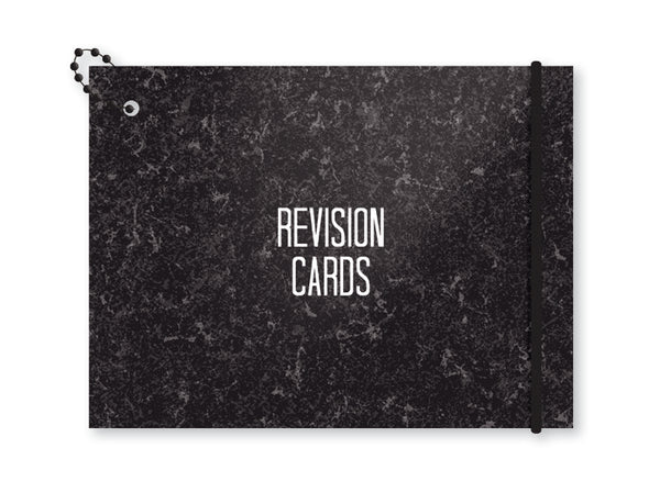 Revision cards - marble