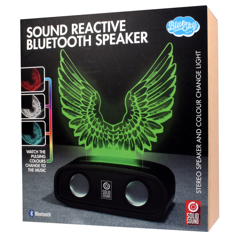 Sound Reactive Bluetooth Speaker - Wings