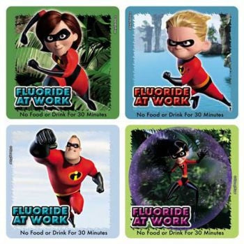 Disney The Incredibles Fluoride Dental stickers - 25 per pack