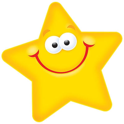Smiley Star Cards - pack of 36 for School and Home!