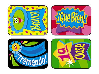 Cintas de Premios - Spanish Reward Ribbons - 100 Stickers