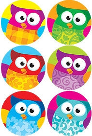 Owl Stars! stickers - 800 stickers per pack