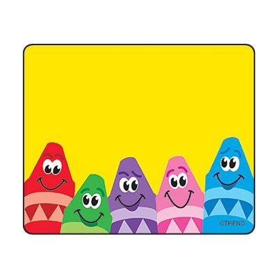 Colourful Crayons Name Tags